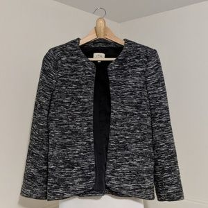 Wilfred Space Dye Black Grey Blazer Jacket